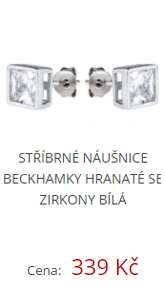 Stříbrné náušnice Beckhamky